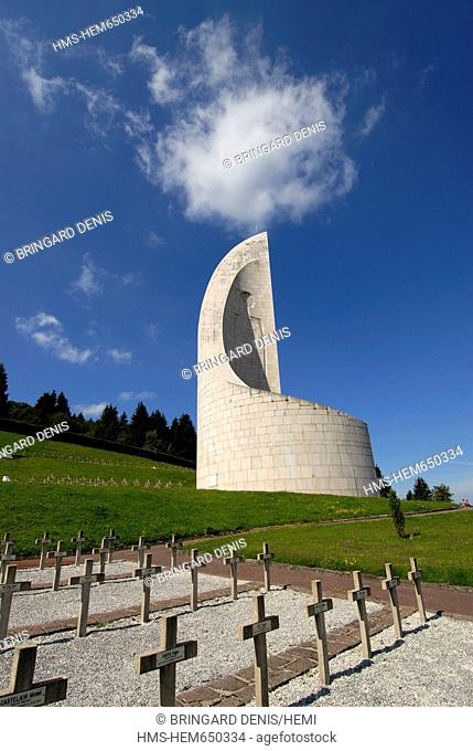 France, Bas Rhin, Natzwiller, Struthof KL Natzwiller Camp and the European Centre of Deported Resistance Members, the Deportation Memorial, in Summer