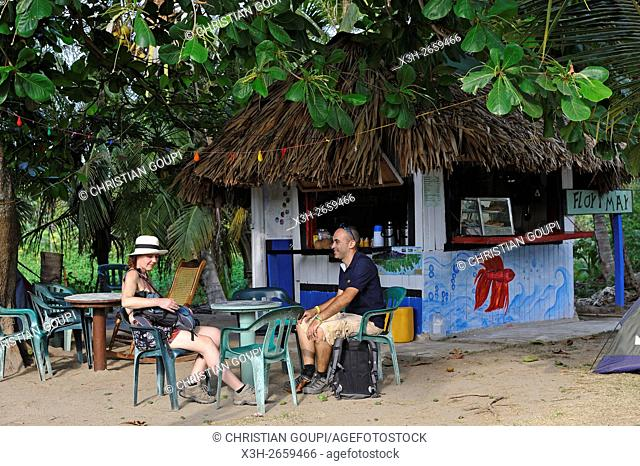 beach bar at Arrecifes, Tayrona National Natural Park, Department of Magdalena, Caribbean Region, Colombia, South America