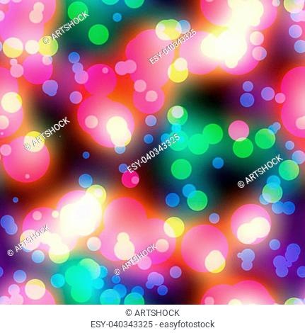 Abstract circular colorful background with glowing bokeh effect
