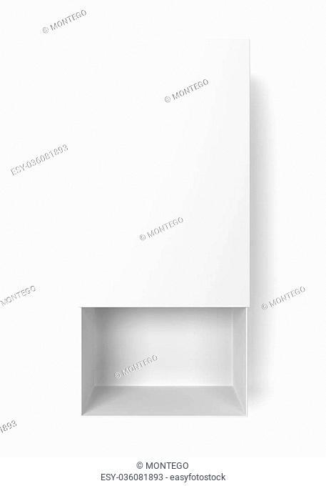Opened box. 3d illustration isolated on white background