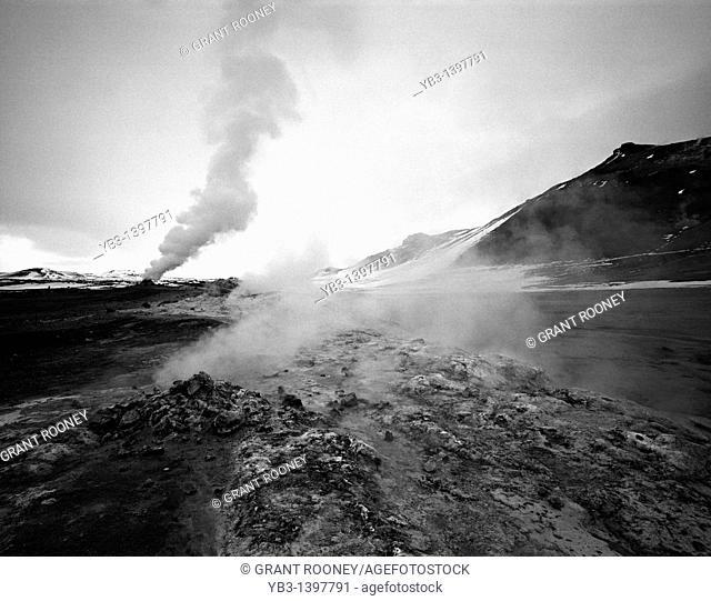 Fumaroles at Námafjall, Myvatn, Iceland