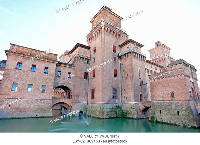 moat and Castello Estense in Ferrara