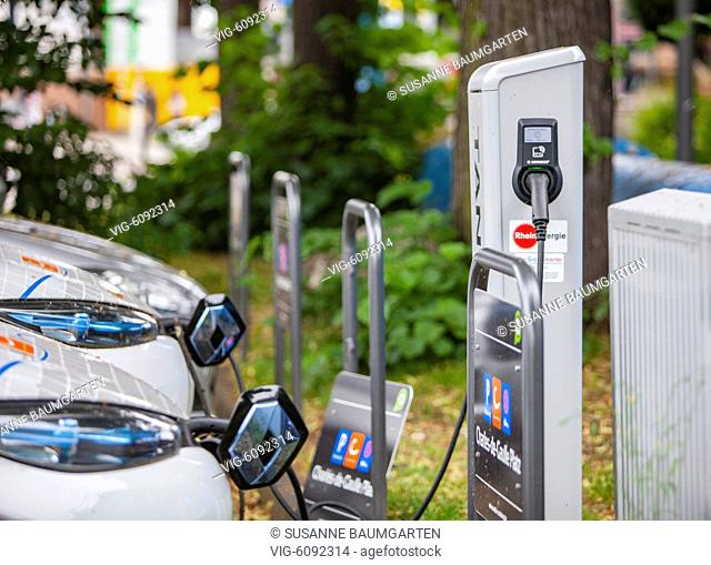 GERMANY, COLOGNE, 17.06.2018, Charging station for e-cars - COLOGNE, Germany, 17/06/2018