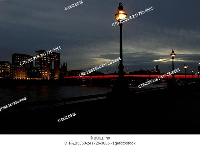 London Bridge at dusk, London, UK