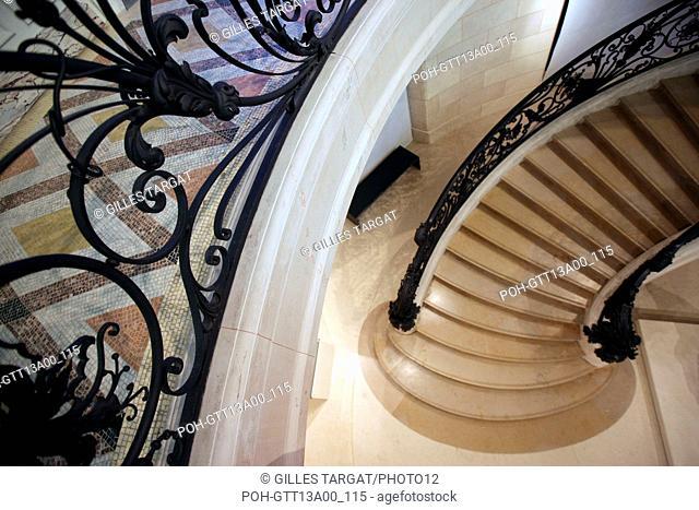 France, ile de france, paris 8e arrondissement, le petit palais, musee des beaux arts de la ville de paris, grand escalier Date : 2011-2012 Photo Gilles Targat