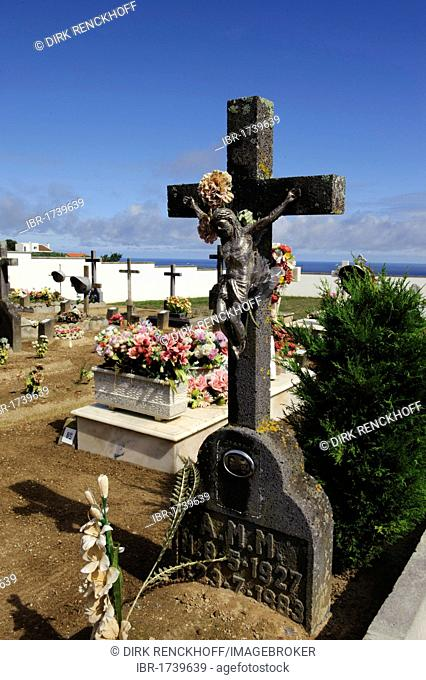 Cemetery in Pilar as Bretanha on the island of Sao Miguel, Azores, Portugal