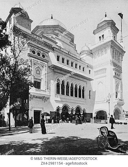 Turkish Pavilion at the Quai d'Orsay, Universal Exhibition 1900 in Paris, Picture from the French weekly newspaper l'Illustration, 11th August 1900