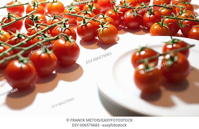 Trusses of tomatoes