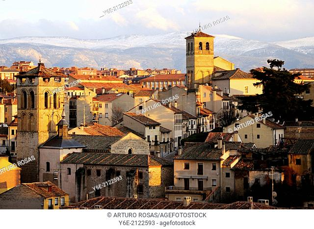 Church of San Justo and Church of El Salvador. Segovia, Spain