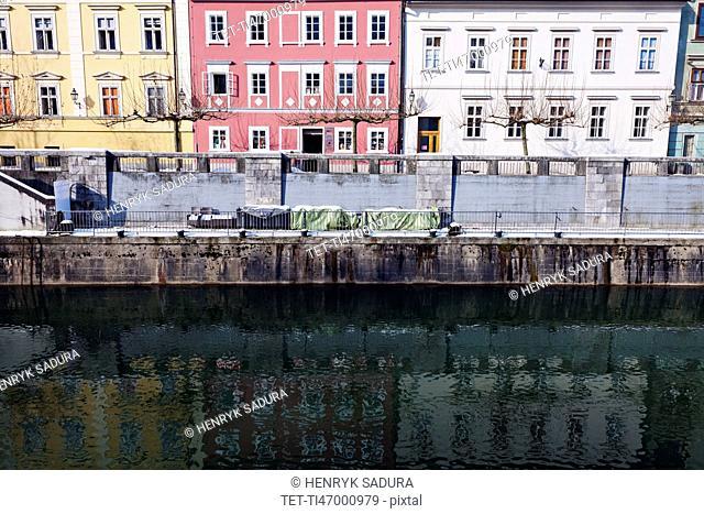 Ljubljanica River and riverfront houses