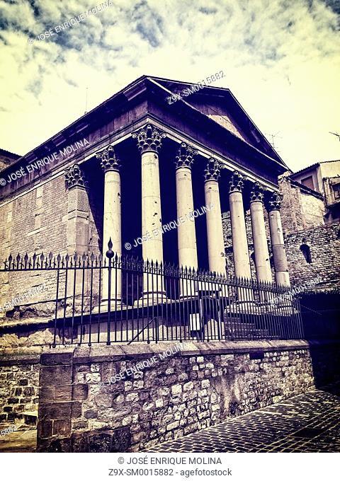 Roman Temple of Vic II century BC, Barcelona, Catalunya, Spain