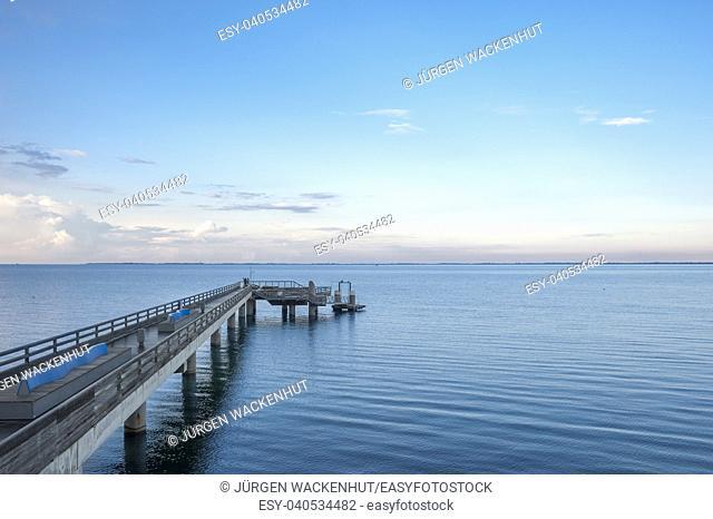 Pier, Heiligenhafen, Baltic Sea, Schleswig-Holstein, Germany, Europe