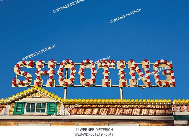 Germany, Baden Wuerttemberg, Stuttgart, View of shooting gallery in fair