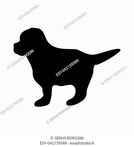 Puppy it is black color icon