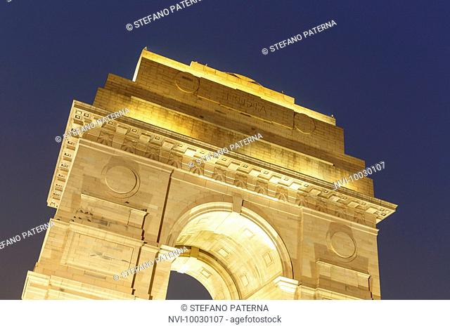 The India Gate, officially All India War Memorial is a triumphal arch in the Indian capital New Delhi, Delhi, India