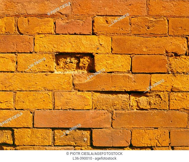 A part of an old brick wall