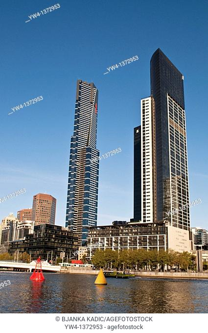 Southbank high rise buildings, Melbourne, Victoria, Australia