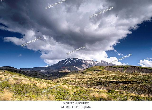 New Zealand, Ruapehu District, Tongariro National Park, Mount Ruapehu, Mount Te Heuheu