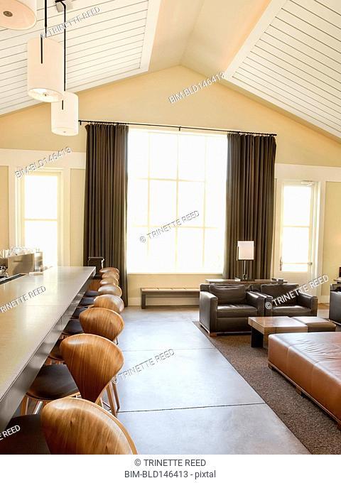 Lounge area of luxury hotel