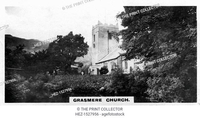'Grasmere Church', Wordsworth's burial place, Cumbria, c1920s. Parts of St Oswald's Church dates from the 13th century. English poet William Wordsworth...