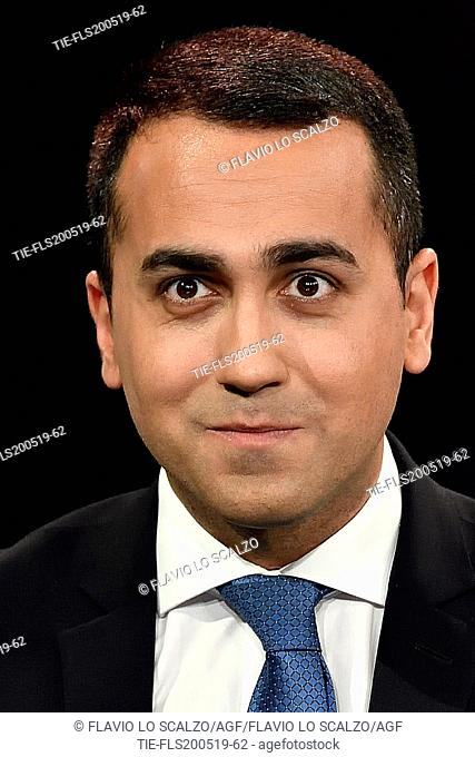 Italian Minister of Industry and Labor, Deputy Premier Luigi Di Maio during the tv show Che tempo che fa, Milan, ITALY-19--05-2019