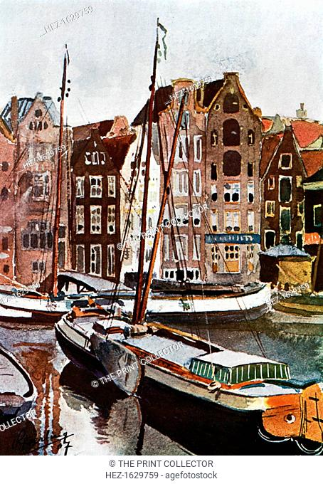 'View of Amsterdam', 1907 (1911-1912). From Penrose's Pictorial Annual 1911-1912, The Process Year Book, volume 17, edited by William Gamble and published by AW...