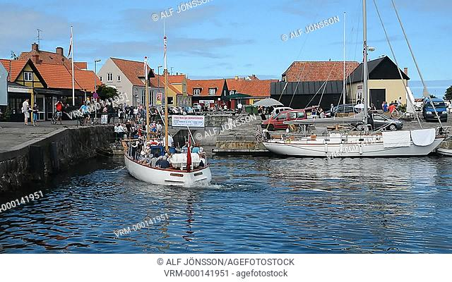 Harbor in Gudhjem, Bornholm, Denmark