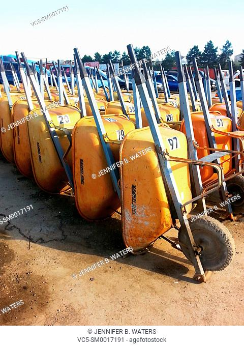 Wheelbarrows for use at the wrecking yard