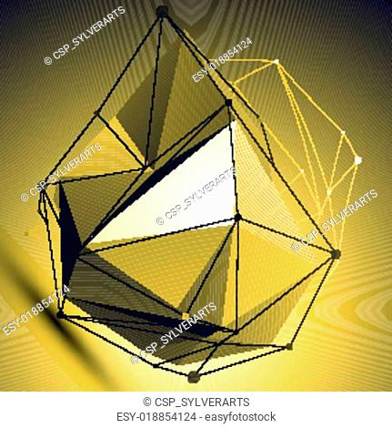 3D vector abstract colorful technol