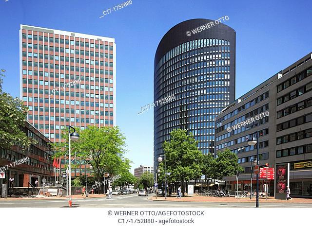 Germany, Dortmund, Ruhr area, Westphalia, North Rhine-Westphalia, NRW, office towers, Sparkasse Dortmund, penny bank, RWE Tower