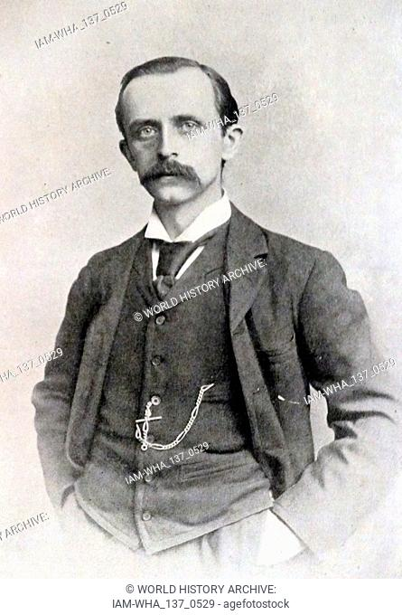 Sir James Matthew Barrie, (1860 - 1937), Scottish novelist and playwright, best remembered today as the creator of Peter Pan