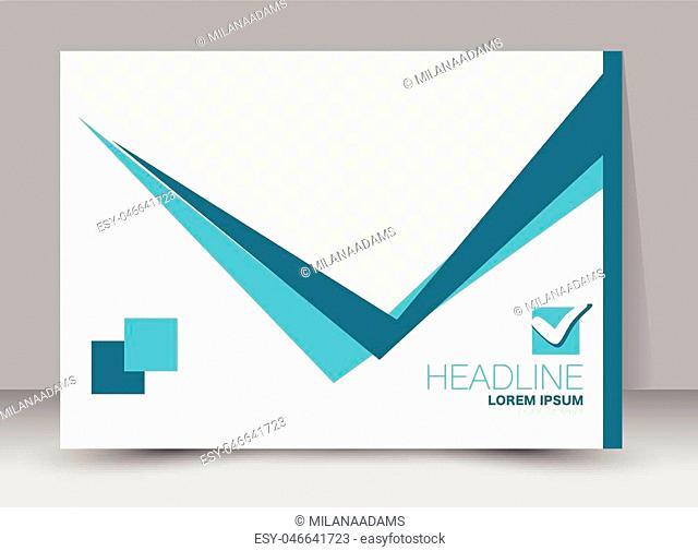 Flyer, brochure, billboard template design landscape orientation for education, presentation, website. Blue color. Editable vector illustration