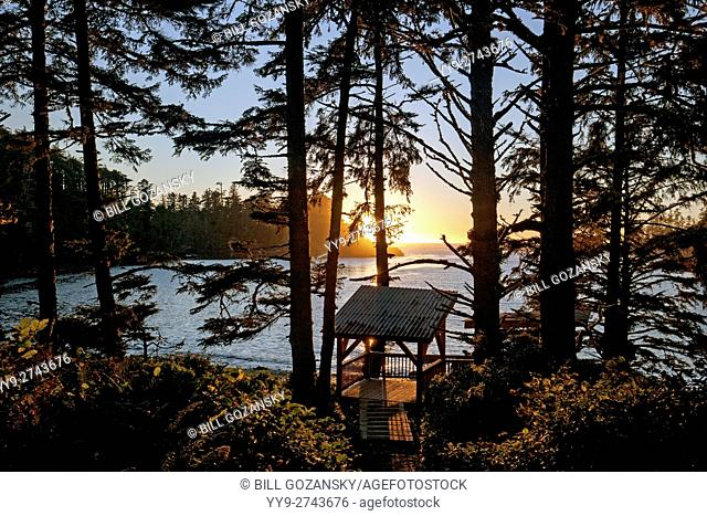 Sunset at Terrace Beach Resort - Ucluelet, Vancouver Island, British Columbia, Canada