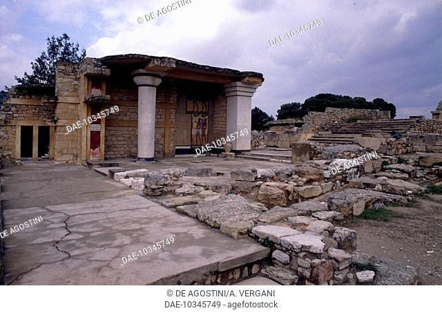 Southern Propylaea, Palace of Knossos, Crete, Greece. Minoan civilisation, 18th-15th century BC