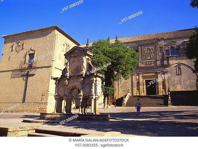 Facade of the cathedral. Santa Maria Square, Baeza, Jaen province, Andalucia, Spain
