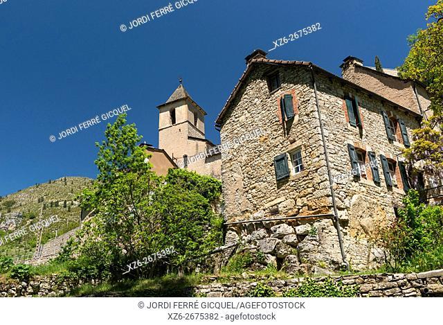 Prades in les Gorges du Tarn, Lozère 48, région Languedoc-Roussillon-Midi-Pyrénées, France, Europe