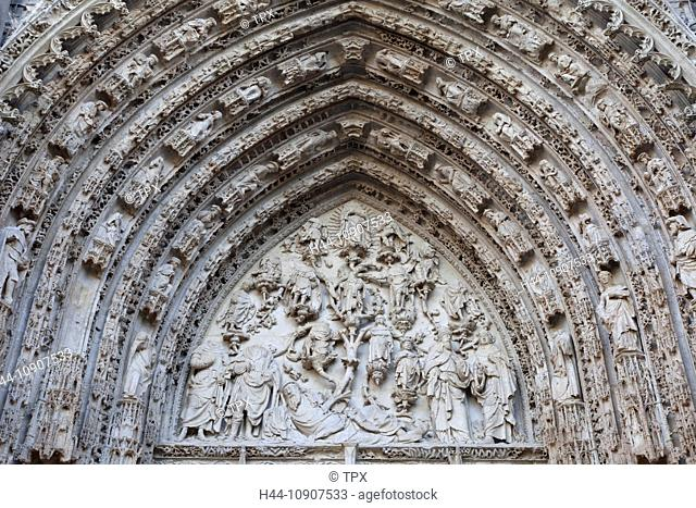 Europe, France, Rouen, Rouen Cathedral, Cathedral, Cathedrals, Portal, Jesus, Jesus Christ, Tourism, Travel, Holiday, Vacation