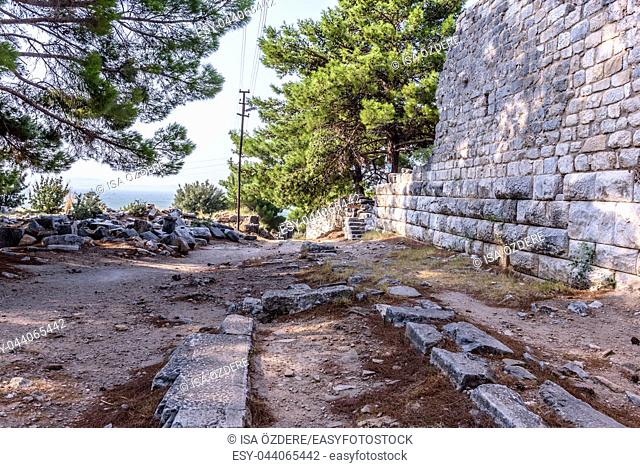 View of Ancient Greek City in Priene,Soke,Aydin,Turkey