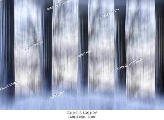 Columns pillars abstract composition