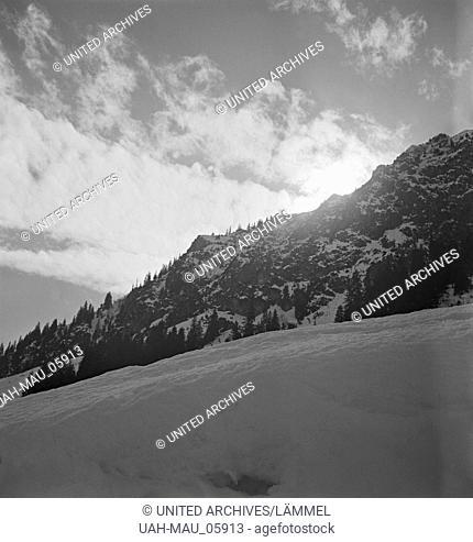 Ein Ausflug nach Mittelberg in Österreich, Deutsches Reich 1930er Jahre. A trip to Mittelberg in Austria, Germany 1930s