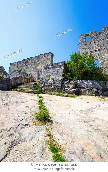 Remains of medieval town Dvigrad near Kanfanar in Istria, Croatia