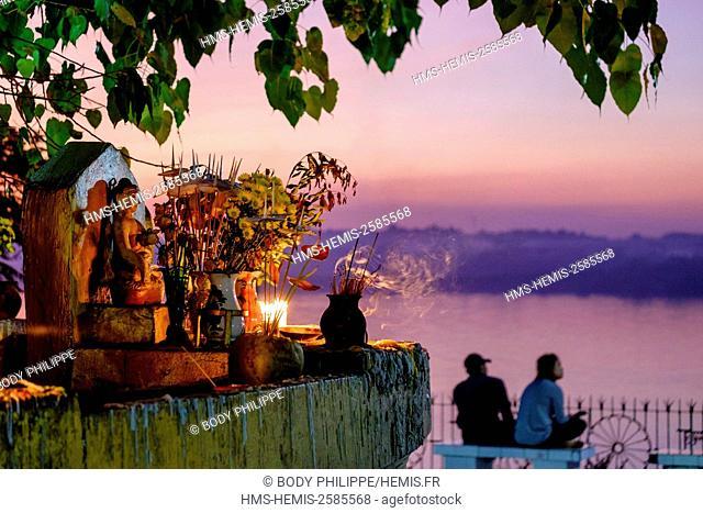 Myanmar, Burma, Karen state, Hpa An, the Shweyinmyaw pagoda