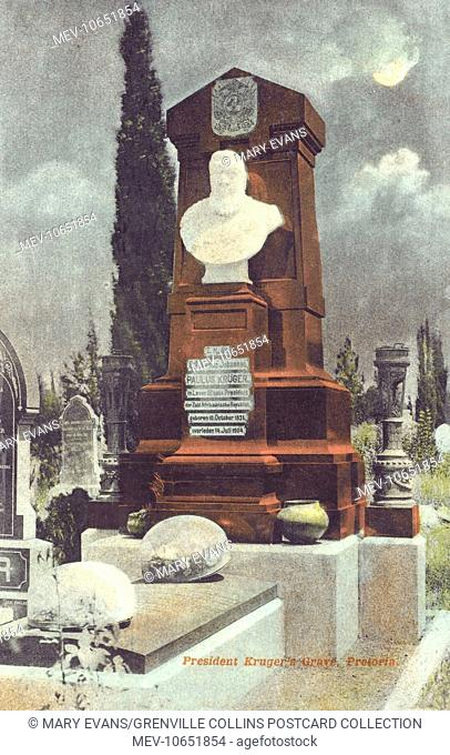 South Africa - The Grave of Former President Paul Kruger (1825-1904) at Pretoria
