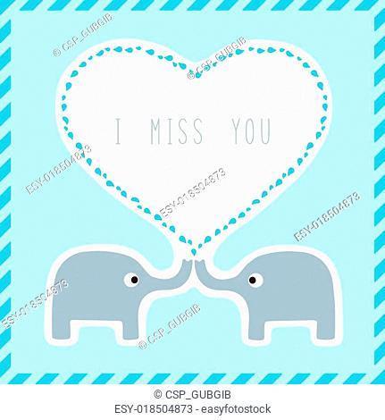 Elephant couple card2