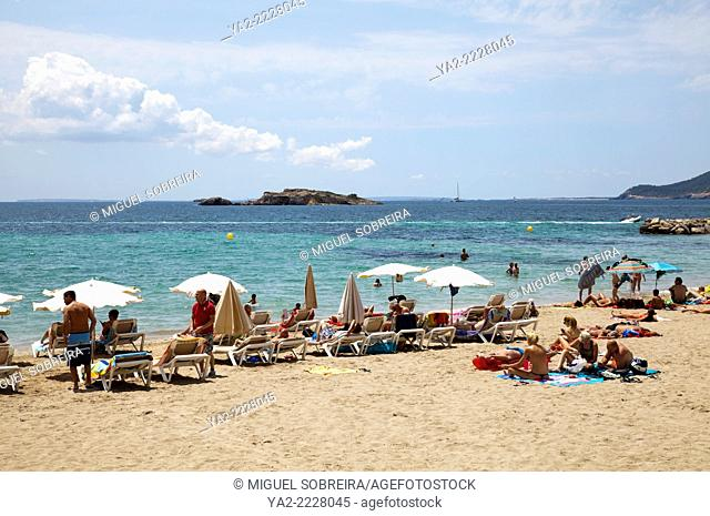 Figueretas Beach in Ibiza - Spain