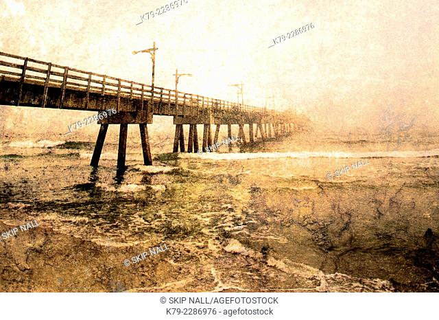 A fishing pier on the Gulf of Mexico in Florida.a
