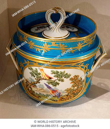 Object from a Dessert Service 'The Razumovsky Service', made from soft-paste porcelain. Dated 18th Century