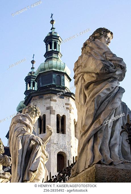 Poland Krakow Baroque St Peter and St Paul Church Apostles statues