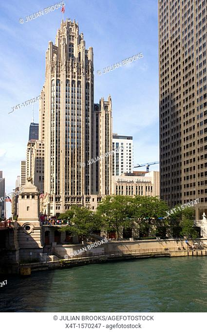 The Tribune tower in Chicago, Illinois