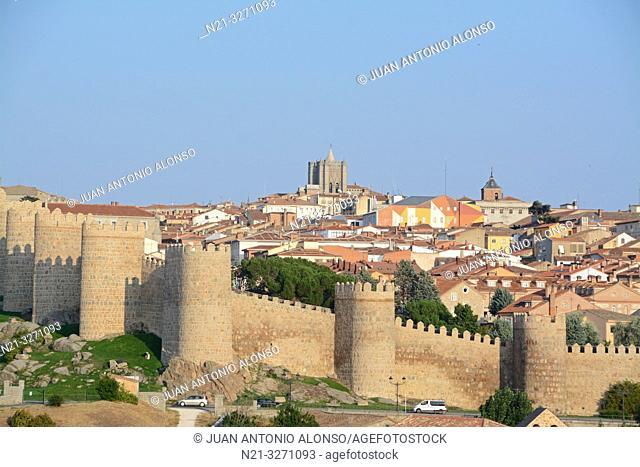 The fortified city of Avila, Castilla-Leon, Spain, Europe